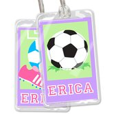 Soccer Girls Personalized Name Tag Set