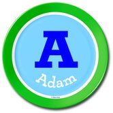 Boys Varsity Green Personalized Kids Plate