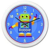 Little Robots Personalized  Clock
