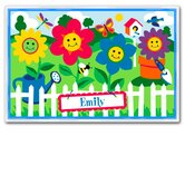 Happy Flowers Personalized Placemat
