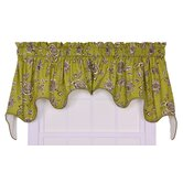 Jeanette Lined Duchess Valance Window Curtain in Green