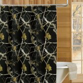 Camo Shower Curtain in Black
