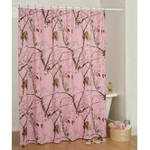 Camo Shower Curtain in Pink