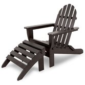 Ivy Terrace Classics 2 Piece Folding Adirondack Set