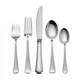 Gorham Fairfax 5 Piece Dinner Flatware Set with Cream Soup Spoon G