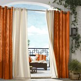Outdoor Décor Gazebo Outdoor Stripe Grommet Top Curtain Panel in Orange