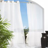 Outdoor Décor Escape Outdoor Sheer Grommet Top Curtain Panel in White