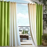 Outdoor Décor Gazebo Outdoor Solid Grommet Top Curtain Panel in Green