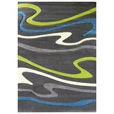 Studio 603 Charcoal Wave Design Rug