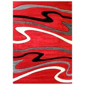 Studio 603 Red Wave Design Rug