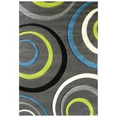 Studio 605 Charcoal Geometric Design Rug