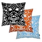 Triton 1 Throw Pillow in Persimmon
