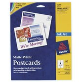 "60 Count 5-1/2"" x 4-1/4"" Matte PC60 Postcard in White"