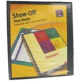 1.5&quot; Show-Off View Binder in Black