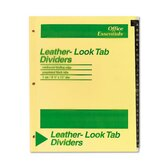 Office Essentials Printed Tab Index Divider Set, Set of 26