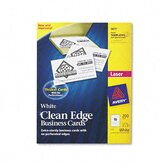 Clean Edge Laser Business Cards, 200/Pack