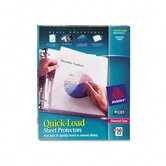 Quick Top and Side Loading Sheet Protectors, 50/Box