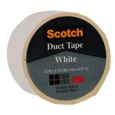 1.5&quot; X 5 Yards White Scotch&reg; Duct Tape 1005-WHT-1P