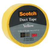 1.5&quot; X 5 Yards Yellow Scotch&reg; Duct Tape 1005-YLW-1P