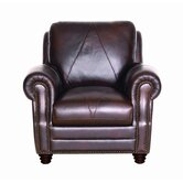 Solomon Italian Leather Chair and Ottoman
