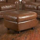 Andrew Leather Cocktail Ottoman