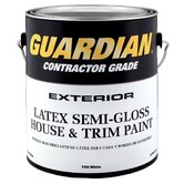 1 Gallon Semi-Gloss White Exterior Latex House Paint 44-755 GL