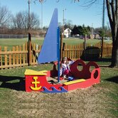 Tot Town Sailboat Sandbox