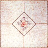 Vinyl Light Pink Flower Floor Tile (Set of 30)