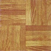 Vinyl Light Wood Slats Square Floor Tile (Set of 30)