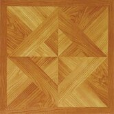 Vinyl Light Wood Diamond Floor Tile (Set of 45)