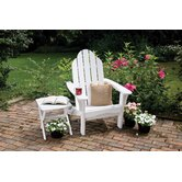 Cottage Classic Adirondack Chair with Side Table