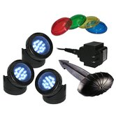 LED 3 Pack Light with Photocell and Transformer