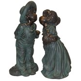 Boy and Girl Kissing Statue