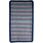 Pioneer Valley II Olympic Blue with Dark Blue Solids Multi Rug