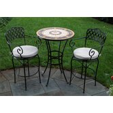 Compass Mosaic Bar Bistro Set