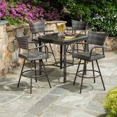 Tutto All Weather Wicker 5 Piece Bar Height Dining Set