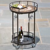 Compass Mosaic Outdoor Serving Cart