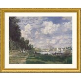 Bassin at Argenteuil, 1874 Gold Framed Print - Claude Monet