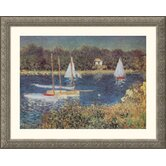 Bassin d'Argenteuil, 1872 Silver Framed Print - Claude Monet