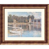 Bridge At Argenteuil Bronze Framed Print - Claude Monet