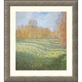Meadow at Giverny Silver Framed Print - Claude Monet