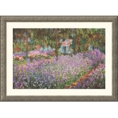 The Artist's Garden at Giverny, 1900 Silver Framed Print - Claude Monet