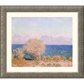 View of the Bay at Antibes and the Maritime Alps Silver Framed Print - Claude Monet
