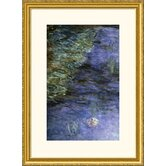 Water Lilies (Detail) {Nymphaeas (Detail)} Gold Framed Print - Claude Monet