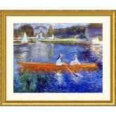 The Seine at Asnieres Gold Framed Print - Pierre Auguste Renoir