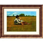 Boys in a Pasture, 1874 Bronze Framed Print - Winslow Homer