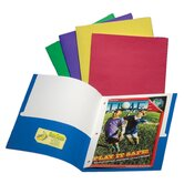 2 Pocket Assorted Colors Portfolio