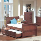 Louis Philippe Sleigh Bed in Cherry