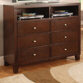 Kingman Media 6 Drawer Chest