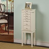 Diamond Classic Six Drawer Jewelry Armoire in White